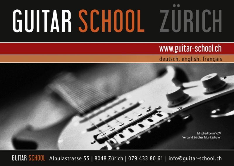 Guitar Lessons Zurich Guitarschool Flyer
