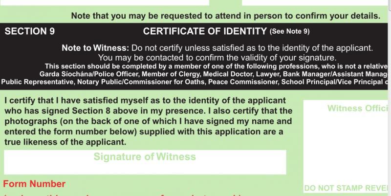 Need A Witness For Irish Passport Renewal English Forum Switzerland