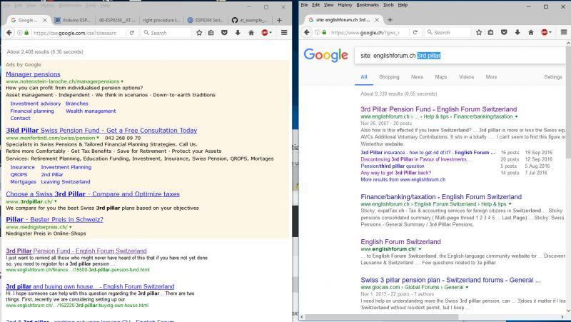 Google search in EF broken ? - English Forum Switzerland