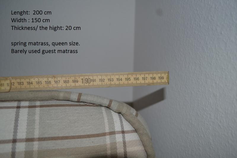 queen size spring mattress pick up Monchaltorf English