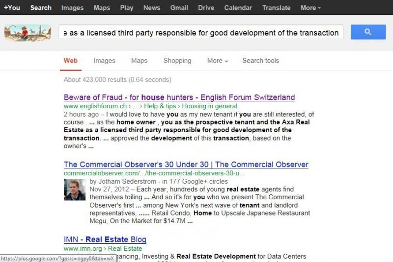 Beware of Fraud - for house hunters - English Forum Switzerland