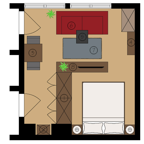 Studio floor plan ideas page 2 english forum switzerland - Amenagement studio 18m2 ...
