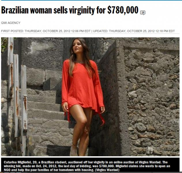 Brazilian Girl Sells Her Virginity - English Forum Switzerland