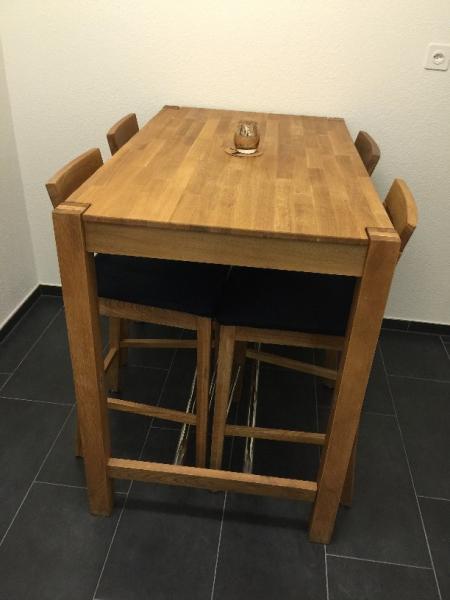 FS Jysk Solid Oak Dining Table 171Bogart187 Bar Stools  : 122614d1487170205 fs jysk solid oak dining table bogart bar stools 70x115x90cm zug table side view 2 from www.englishforum.ch size 450 x 600 jpeg 26kB