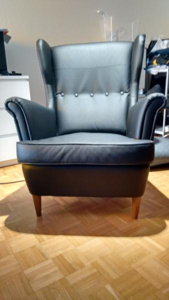 ikea-strandmon-black-wing-chair-like-new-zh- ... : strandmon wing chair - Cheerinfomania.Com