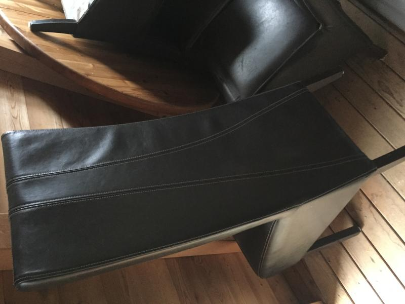 ... Sale 4 High Back Leather Dining Chairs Img_1613.
