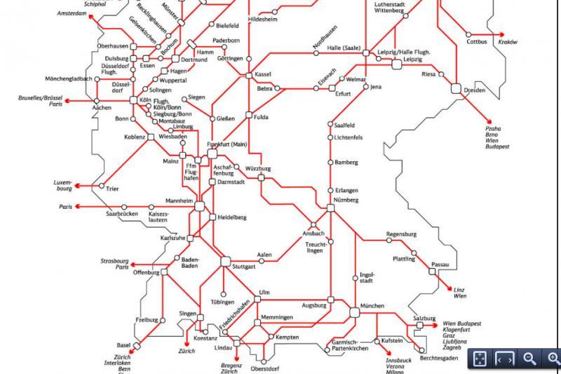 Deutsche Bahns fast ICE IC EC map in PDF English Forum Switzerland