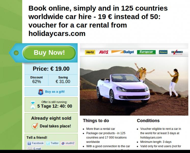rental cars and car rentals from