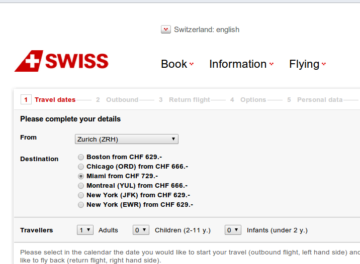 Best swiss air deals