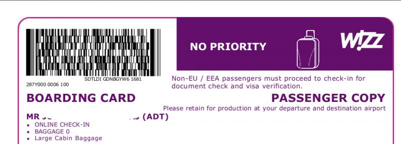 Ryanair: Non-EEU passport holder cannot online-checkin - English