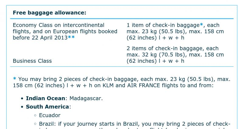 KLM to charge checked baggage fees from April 2013 ...