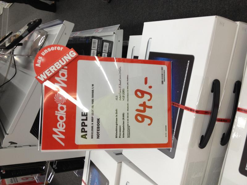 Macbook pro 13 for 950 chf at Mediamarkt Winterthur - English Forum ...